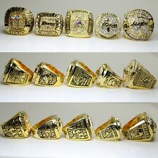 5pcs Black Mamba Kobe Bryant Championship Ring Set w/Wooden Display Box Size 10