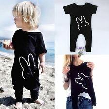 Toddler Kids Baby Boy Girl Rabbit Outfit Cotton Romper Jumpsuit Bodysuit Clothes