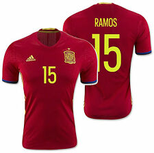 ADIDAS SPAIN SERGIO RAMOS EURO 2016 AUTHENTIC PLAYER HOME ADIZERO JERSEY Scarlet