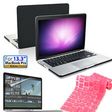 "F Macbook Pro Retina 13.3"" Matte Hard Rubberized Case Keyboard Cover Screen Film"