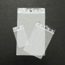 Grip Seal Bags - Zip Lock Bags - Clear Plain - Self Resealable Polythene Plastic