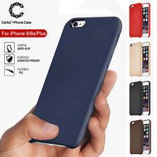 Luxury Ultra-thin Soft Leather Back Skin Case Cover For Apple iPhone 6 6S 7 Plus