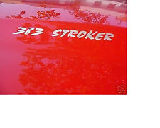 383 STROKER HOOD DECALS - (Set of 2) Hot Rod American Muscle - Color Choices