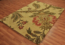 Ottoman Style Floral Transitional Rug wool hand tufted area rug 100% wool 8'x10'