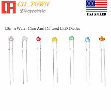 1.8mm Water Clear Diffused Round Top Warm White Red Blue Light LED Diodes