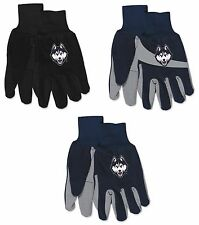 NWT NCAA UConn Huskies No Slip Gripper Palm Utility Work Gardening Gloves NEW!