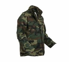 WOODLAND CAMOFLAGE ROTHCO M65 MILITARY FIELD JACKET WITH LINER SIZE S TO 6X