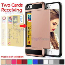 Damda Slide Card Slot Wallet Heavy Duty Shockproof Hard Case Cover For iPhone