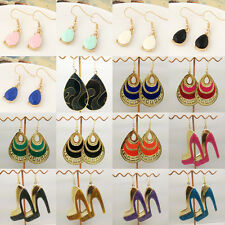 Hot Mixed 4Styles Fashion Ladies Gold Plated Dangle Drop Earrings Hook Jewelry