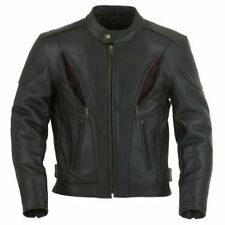 Leather Motorcycle Jacket , leather biker Jacket - vents and armour S-8XL