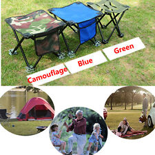 Portable Folding Chair Stool Fishing Camping Outdoor Seat Side Storage Pocket