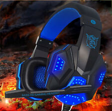 New -QNNB USB 3.5mm Surround Gaming Headset Headband Headphone with Mic For PC