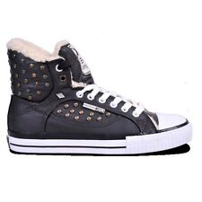 9584 British Knights Atoll Women's Shoes Padded High Top Trainers Brown