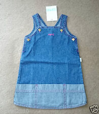 BABY DRESS, BABY GIRL BLUE DENIM PINAFORE DRESS, SIZE 6, 12 & 18 MTHS NEW