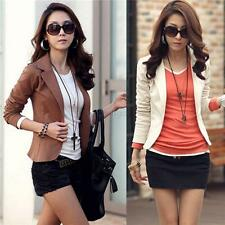 Women's One Button Slim Casual Business Blazer Suit Jacket Coat Outwear Tops