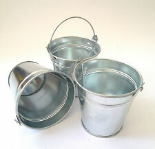 Set of 3, 6, or 12 Small Metal Buckets Party Food Wedding Favours Crafts H10cm