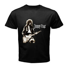 JIMMY PAGE Led Zeppelin Guitarist Legend Black T-Shirt