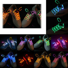 Trendy LED Light Up Shoelaces Waterproof Flash Glow Stick Party KTV Bar Disco