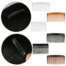 2Pcs Hair Combs Side Clips Slides Plastic Headwear Hairdresses Clear/Coffee/Blac