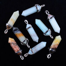 Natural Gem Stone Bead Pendant Beads Gemstone Crystal Healing Point Chakra Reiki