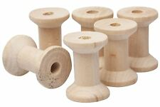 Wooden Bobbins Spools Sewing Thread Ribbon Holder 2.5cm / 3cm / 4cm