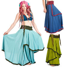 HIPPY FLOW skirt, long boho skirt, gypsy skirt, festival bohemian hippie skirt