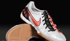 NIKE T90 SHOOT III IC INDOOR SOCCER FUTSAL SHOES Metallic Platinum/ Orange Blaze