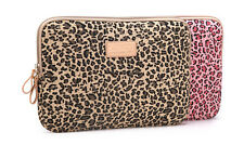 "15.4"" 15.6"" Leopard Laptop Sleeve Bag Case Canvas Notebook Skin Cover Pouch 15"""