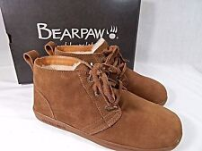 Bearpaw OXFORD SHOES~SUEDE LEATHER Black or Brown SHEEPSKIN~Casual MENS 10 NIB