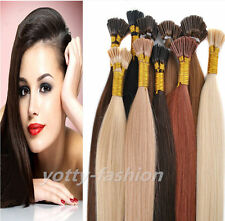 Keratin Stick I Tip 100% Remy Real Human Straight Hair Extensions 18-22inch