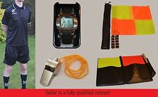 Full Football Referee Kit: Shirt/Shorts/Socks/Watch/Flags/Cards & Wallet/Whistle