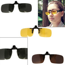 Driving Fishing Polarized Clip-on Flip-up Lens UV400 Sunglasses Glasses Clip