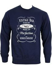 New Vintage Dad Fathers Day Men's Navy Sweater