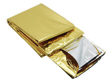 FOIL SPACE BLANKET EMERGENCY SURVIVAL BLANKET THERMAL RESCUE FIRST AID DOBLE SID