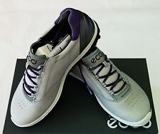 New ECCO Womens BIOM Hybrid 2 Golf Shoes–Concrete/Imperial Purple(120213-57693)
