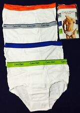 Calvin Klein 4 pack Men's Briefs Underwear Classic Fit 100% Cotton  L XL New!