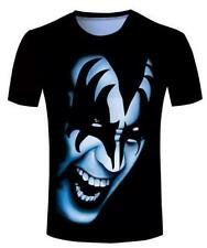 New Fashion Womens/Mens Men Kiss Gene Simmons Funny 3D Print T-shirt UK437