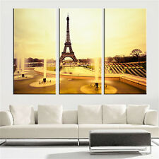 Famous Eiffel Tower Canvas Painting Wall Art Decorative Picture 3PCs No Frame