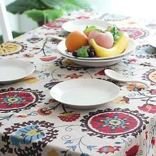Country Lace Trim Tablecloth Party Kitchen Banquet Dining Table Cover Protector