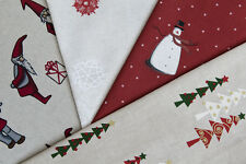 Designer Christmas Fabric - Quality Cotton Fabric, Various Christmas Designs