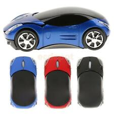 2.4G 3D Optical Wireless Mouse Car Shape 1600DPI w/ Mini USB for Laptop Tablet