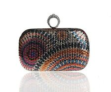 Fashion Lady Ring Buckle Sequin Evening dress Bag Bridal Prom Party Clutch Purse