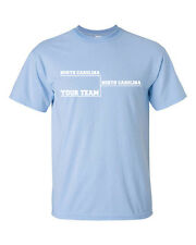 NORTH CAROLINA BASKETBALL Final Tournament Bracket YOUR TEAM Fun Men's Tee Shirt