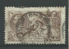 1918/19 Sg 413A, 2/6d Olive-Brown Seahorse, Good to fine used.
