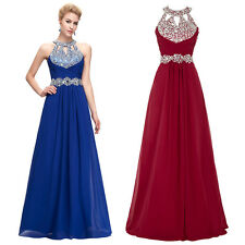 Sexy Beaded Long Prom Party Evening Formal Dress Pageant Wedding Guest Ball Gown