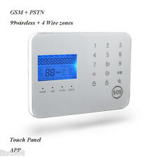 remote home wireless perimeter security alarm  GSM host keypad system ir emitter