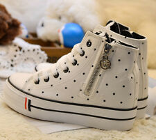 MEW Women's Side High Top Lace Up Sneakers Platform Wedge Canvas Casual Shoes