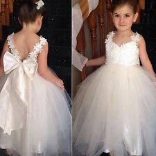 Flower Girls Tulle Tutu Dress Princess Wedding Bridesmaid Prom Party Pageant