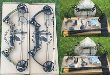 Right Handed Camo/Black Archery Compound Bow Set Hunting 20-70Lb Target Shooting