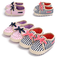 Baby Toddler Infant Girls Princess Prewalker Crib Shoes Bow Soft Sole Sneakers